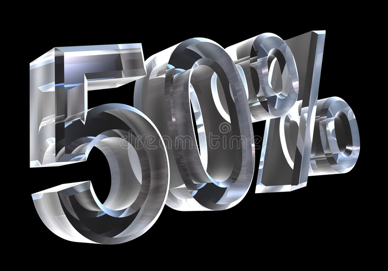 3d 50玻璃百分比 库存例证