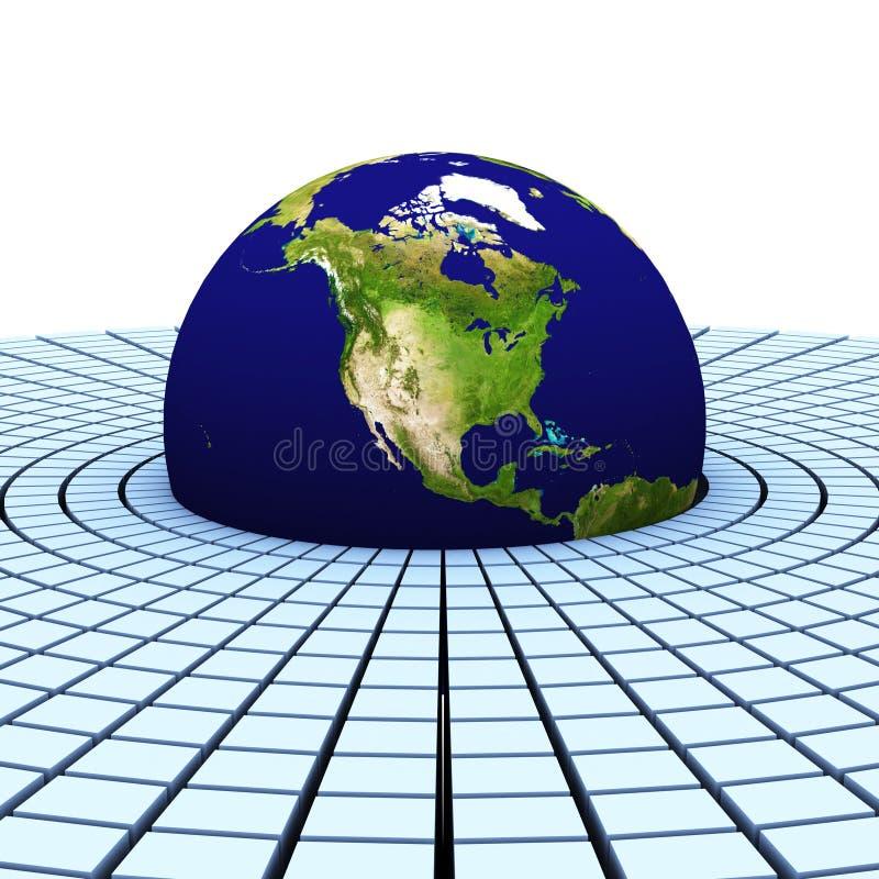 3d aarde (Amerika) stock foto