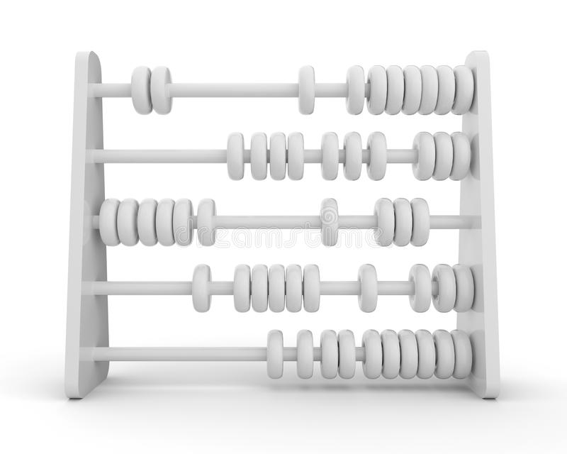 3d abacus. 3d illustration of abacus with white background royalty free illustration