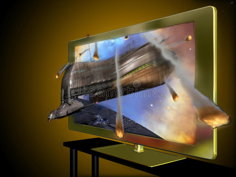 3D a abouti la télévision illustration de vecteur