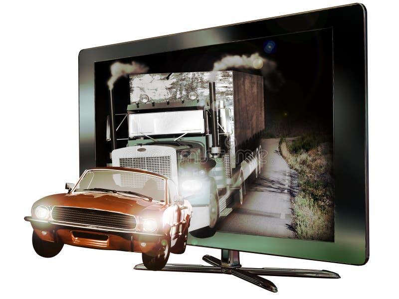 3D a abouti la télévision illustration stock