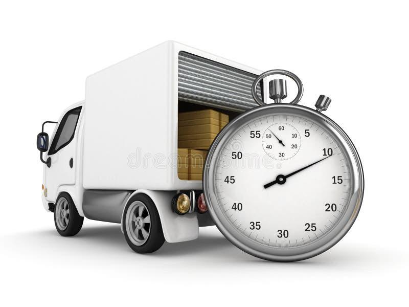 3D abren la furgoneta stock de ilustración