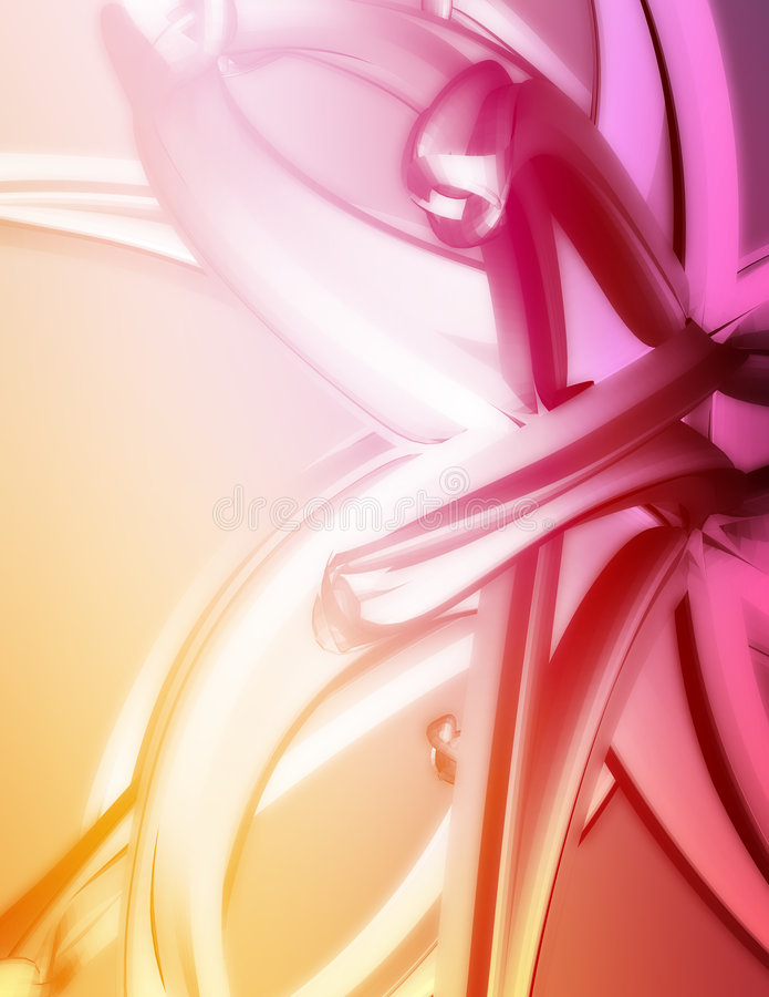 3D Abstract royalty free illustration