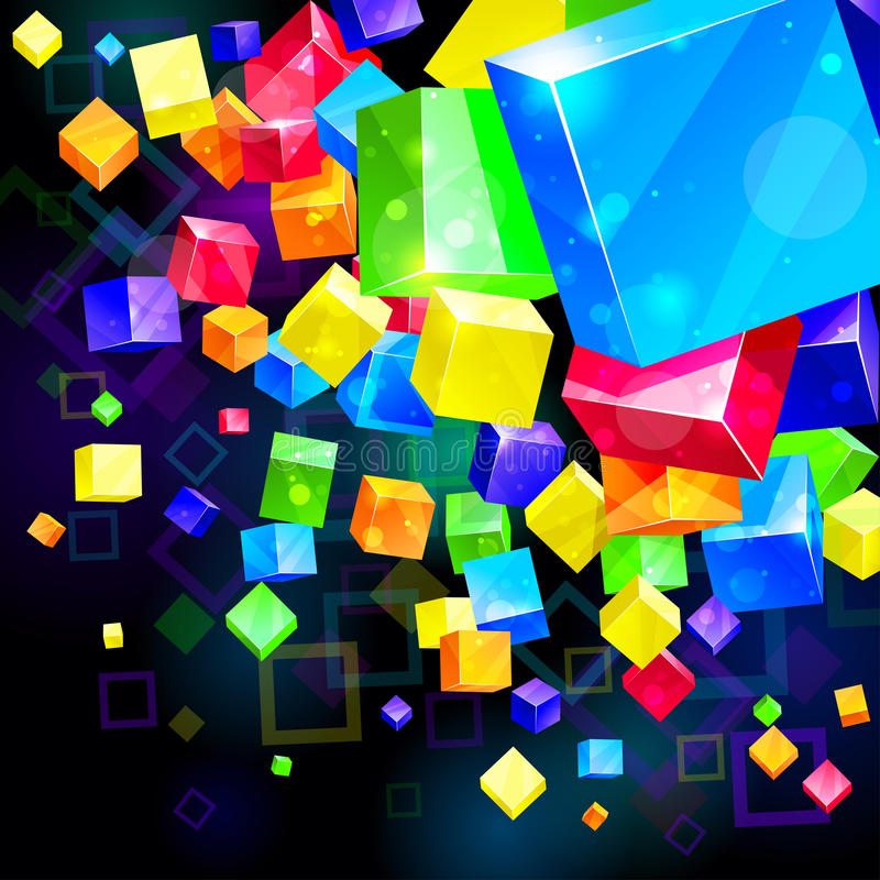 3d abstract background royalty free illustration