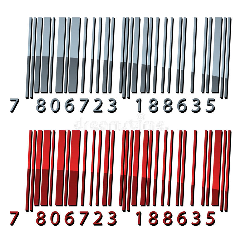 Download 3d abstract barcodes stock vector. Illustration of product - 24114435