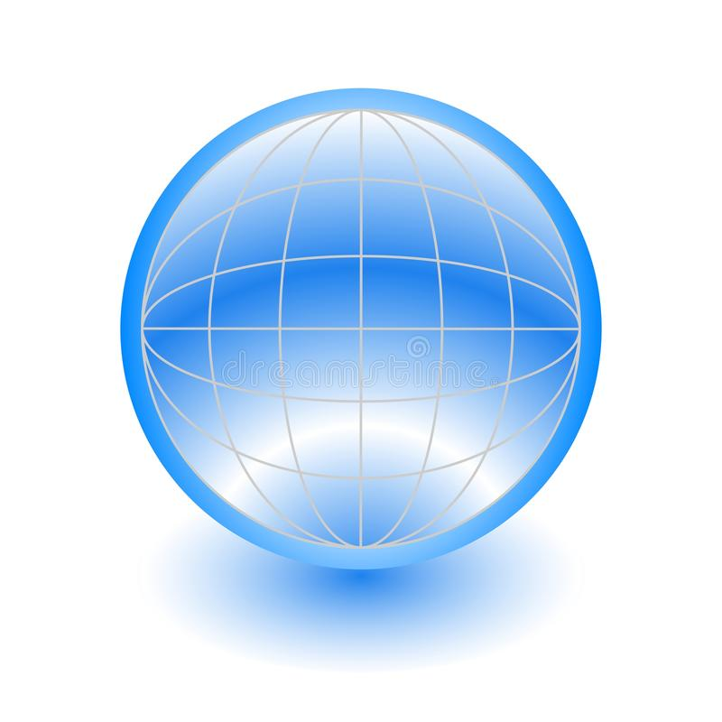 3d Abstract Blue Globe Stock Photography