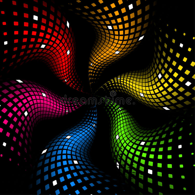 Free 3d Abstract Dynamic Rainbow Background Royalty Free Stock Images - 13542509