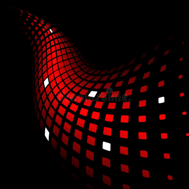 Download 3d Abstract Dynamic Red Background Stock Vector - Image: 13406160