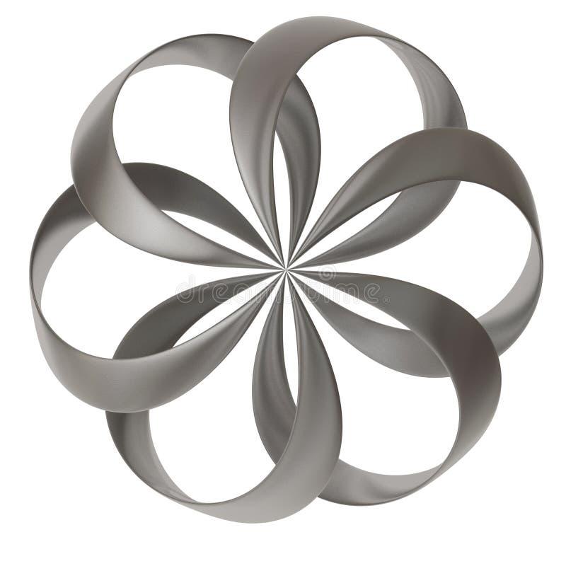 3d abstract flower shape stock illustration