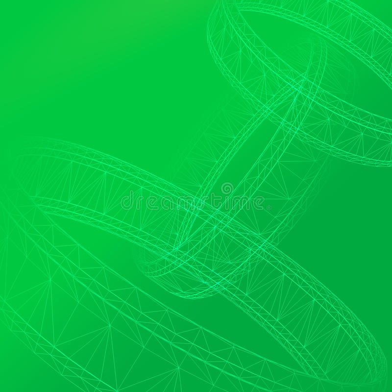 Download 3D Abstract in green stock illustration. Image of banner - 11412756