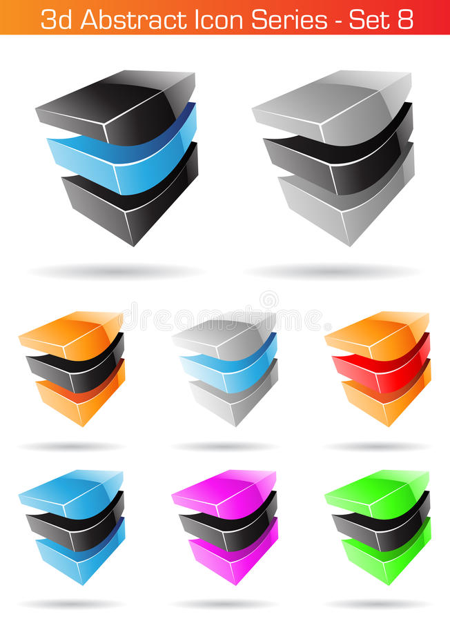 Download 3d Abstract Icon Series - Set 8 Royalty Free Stock Photos - Image: 10907528