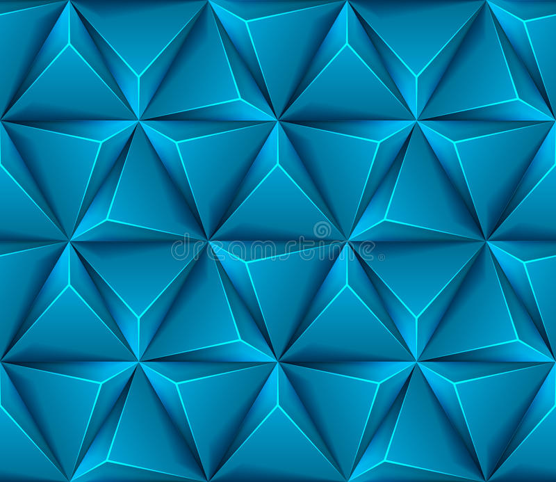 3d Abstract seamless background with blue triangle royalty free illustration