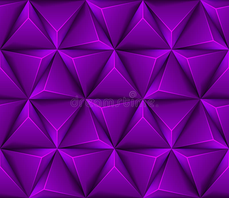 3d Abstract seamless background with purple triang royalty free illustration