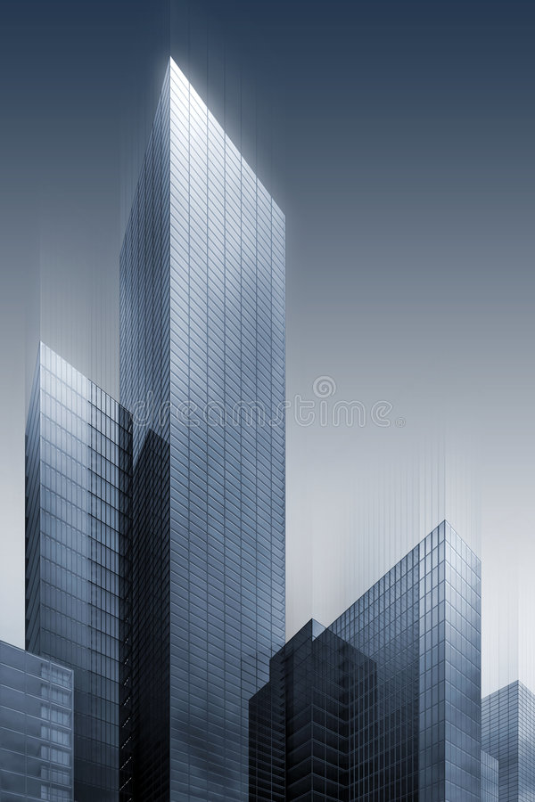 3d Abstract Skyscrapers Stock Photo