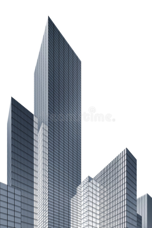 3d abstract skyscrapers royalty free illustration