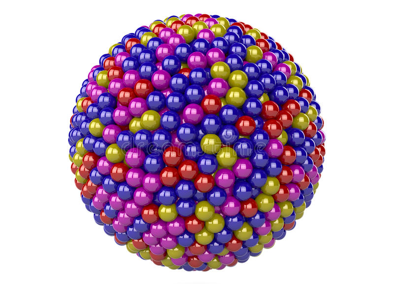 3d abstract sphere stock illustration