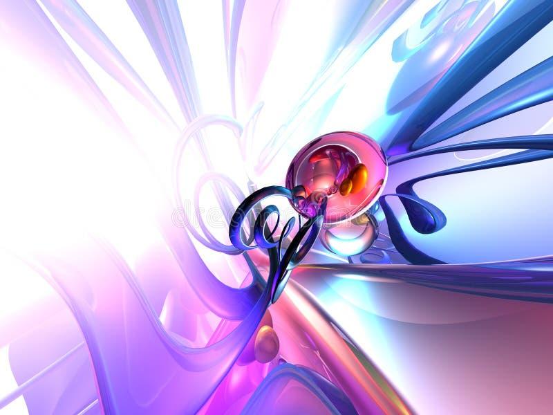 3D Abstracte Blauwe Witte Purple geeft Achtergrond terug stock illustratie