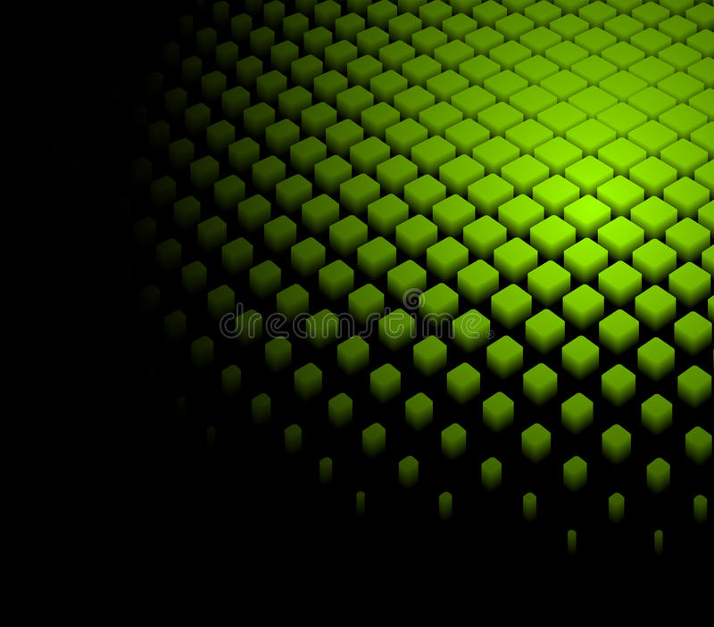 3d abstracte dynamische groene achtergrond royalty-vrije illustratie