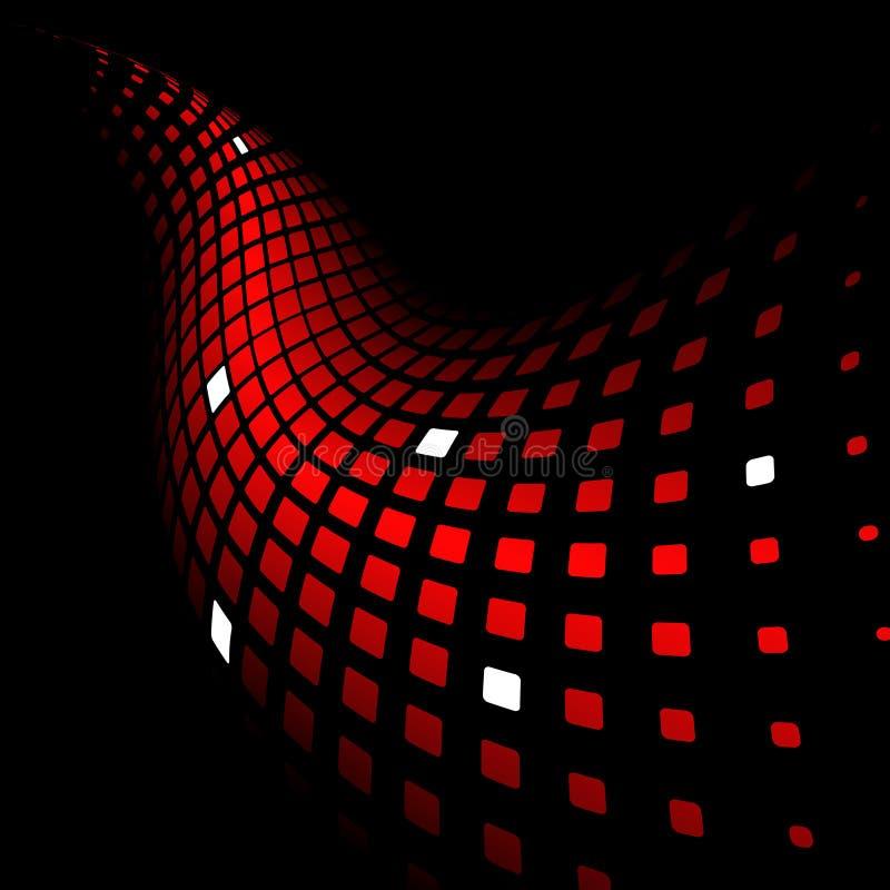 3d abstracte dynamische rode achtergrond royalty-vrije illustratie