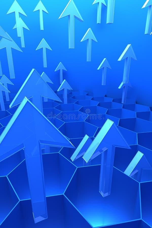 3d abstracte gegevensstroom vector illustratie