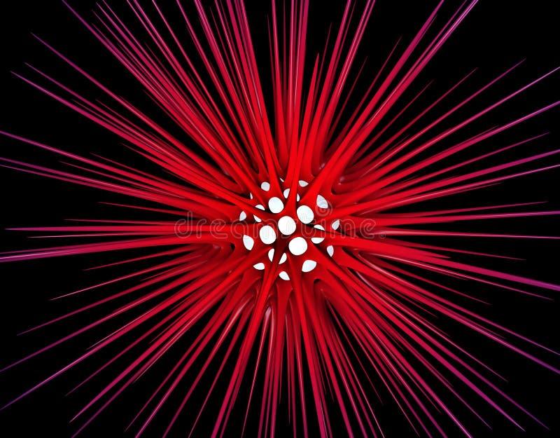 3D Abstracte Ontwerp Achtergrond van de Allergie vector illustratie