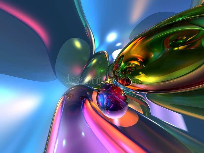 3d abstrakcjonistycznego tła kolorowa menchii tapeta ilustracji