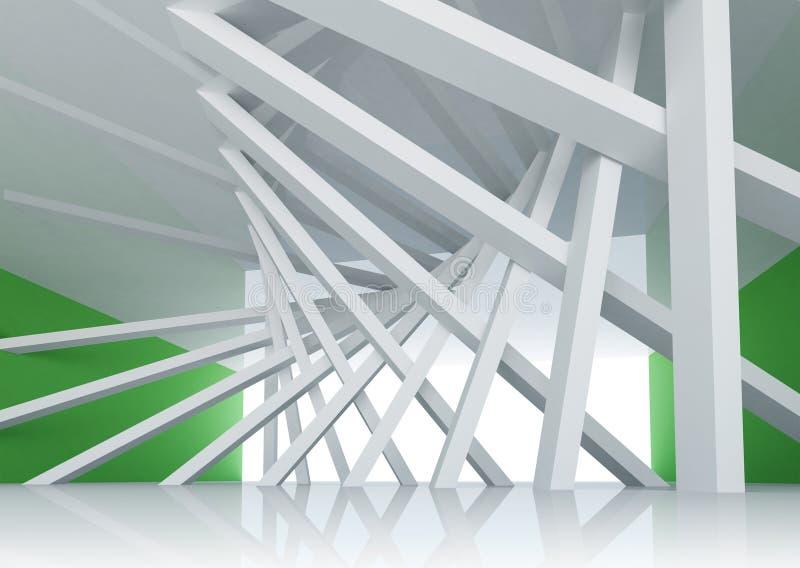 3d abstrakcjonistyczny architektury tła pokoju Wnętrze ilustracja wektor