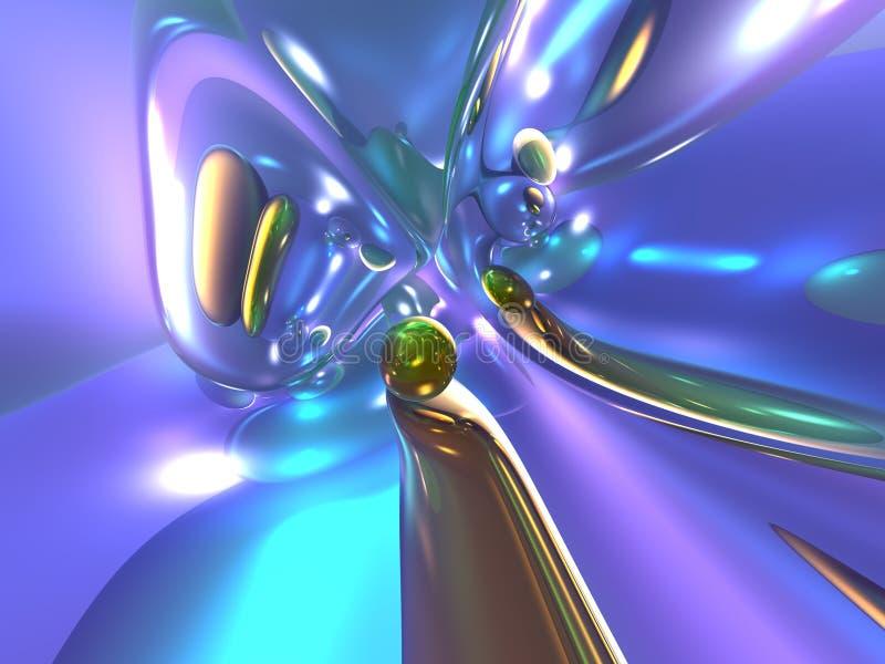 3d abstrakcjonistyczny kolorowy glansowany purpurowy błyszczący ilustracja wektor