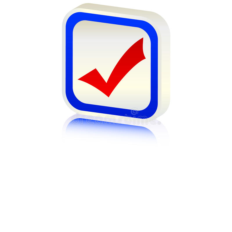 Download 3d accept symbol stock vector. Image of option, vote - 10760713