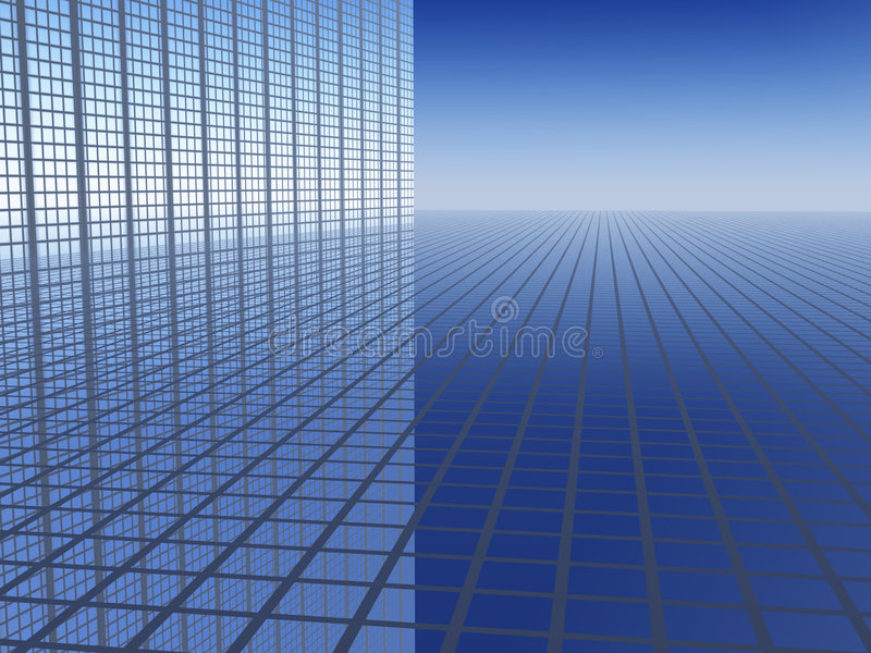 3D Achtergrond Bedrijfs van de Vooruitgang royalty-vrije illustratie