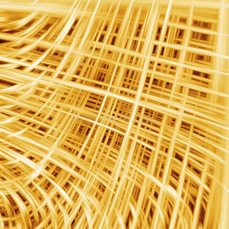 3D Achtergrond van Draden vector illustratie
