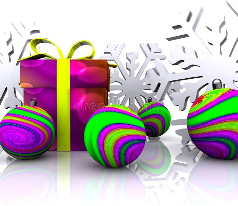 3D Achtergrond van Kerstmis - stock illustratie