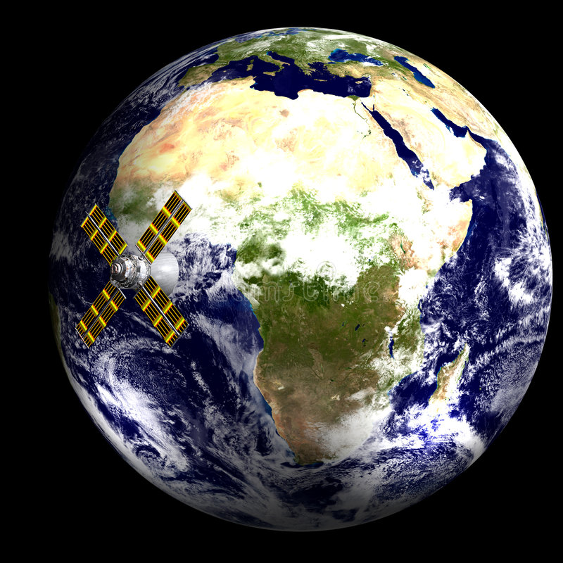3d affrica świat ilustracja wektor