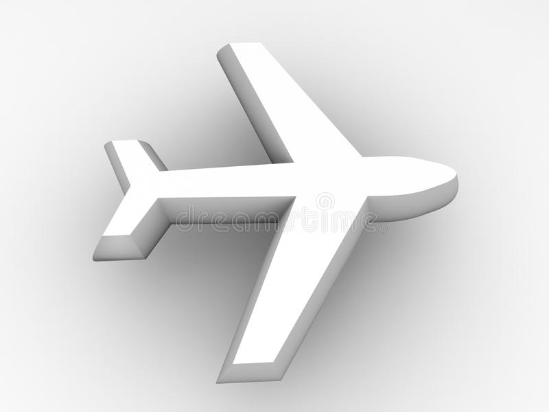 Download 3d Airplane Transportation Icon Stock Illustration - Illustration of symbol, airplane: 5538975