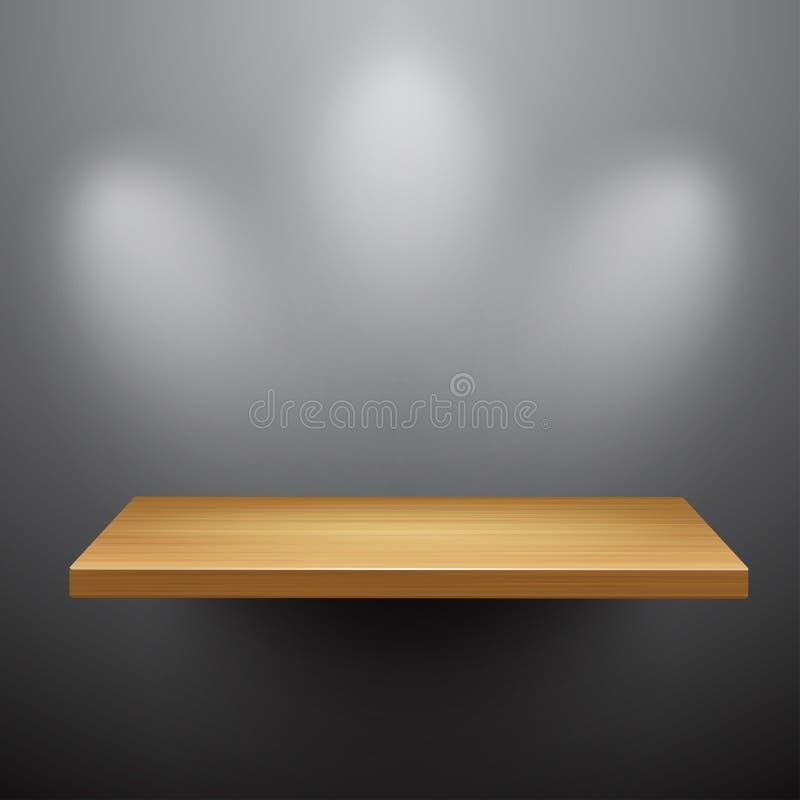 3d aislados vacian el estante para el objeto expuesto libre illustration
