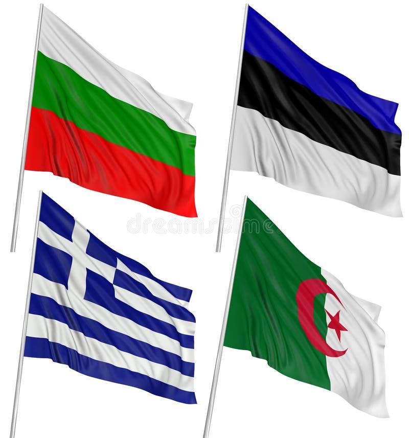 Download 3D Algerian, Bulgarian, Greek, Estonian, Flag Stock Illustration - Illustration: 14524393