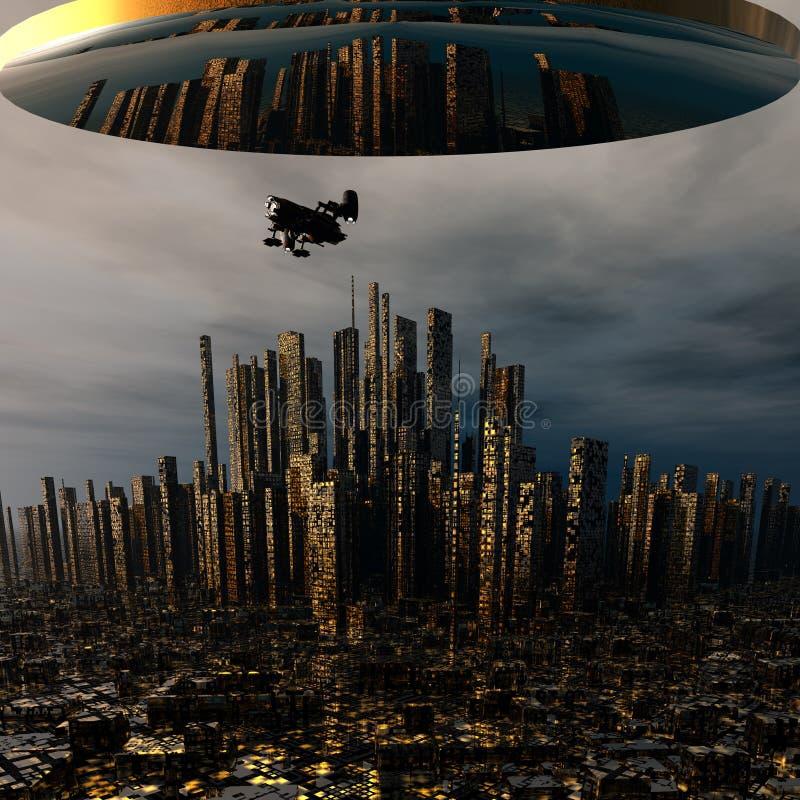 Download 3d alien UFO space ship stock illustration. Image of alien - 12932627