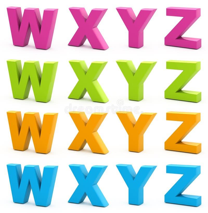 Download 3d alphabet. stock illustration. Image of alphabet, collection - 15665497