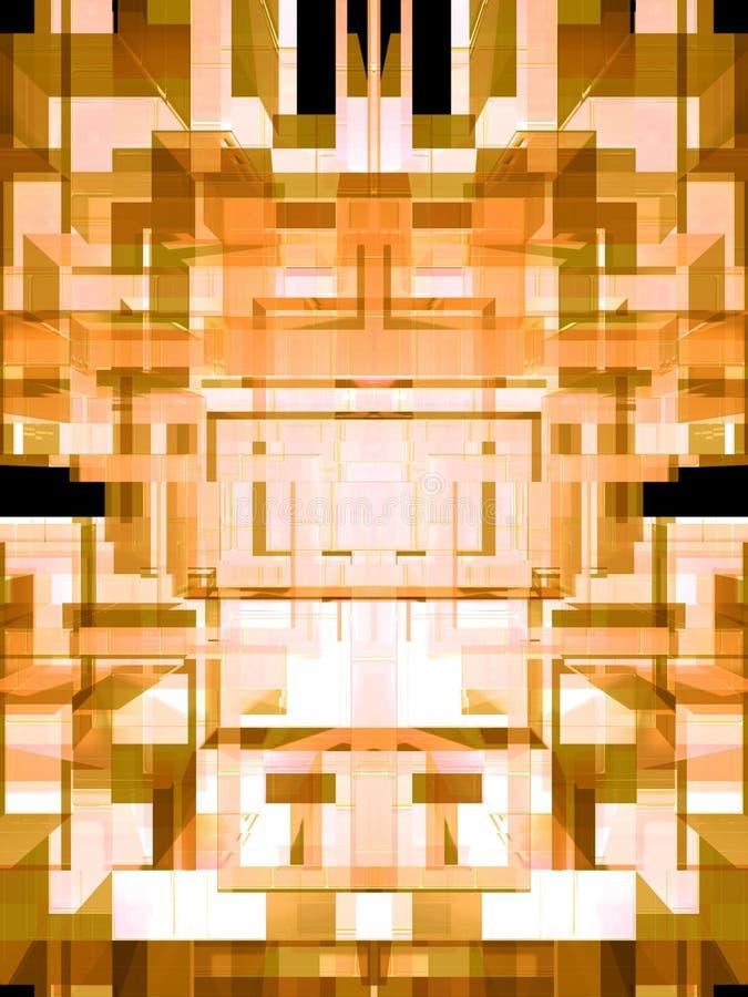 3d amarillo stock de ilustración