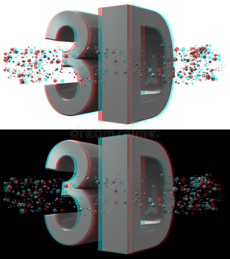 Free 3d Anaglyph Concept Red-Cyan Stock Photos - 27298383
