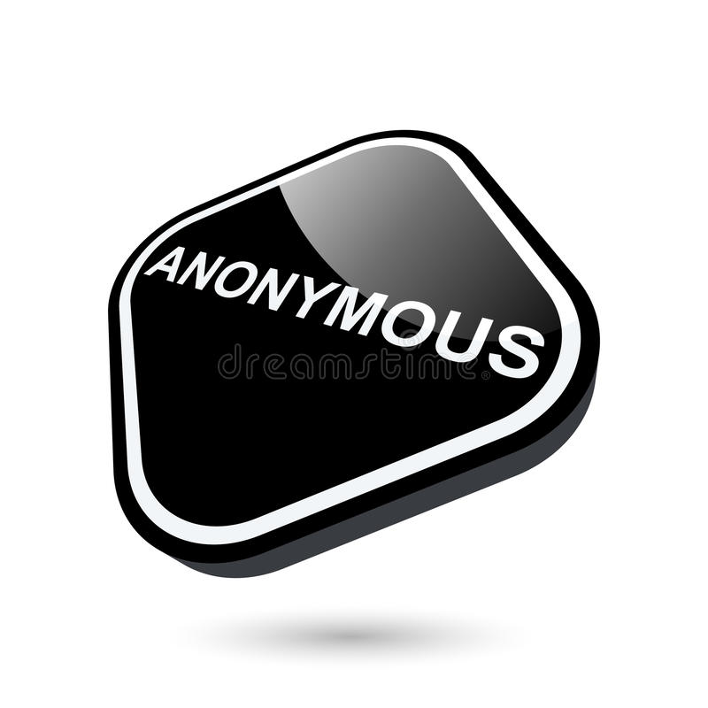 Download 3d anonymous button stock vector. Image of icon, rounded - 22048350