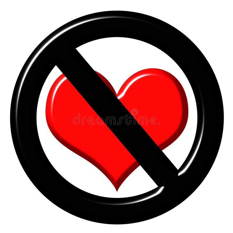3d anti love sign stock illustration. illustration of prohibit - 4538431