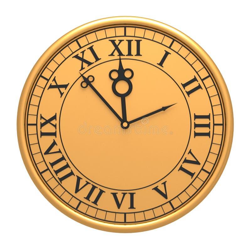 Download 3d antique old clock stock illustration. Image of image - 17467551
