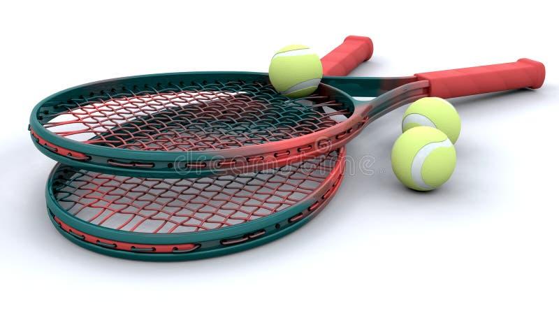 3d apparatuur van het Tennis royalty-vrije illustratie