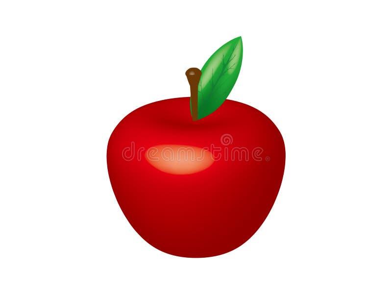 3D appelvector royalty-vrije stock afbeeldingen