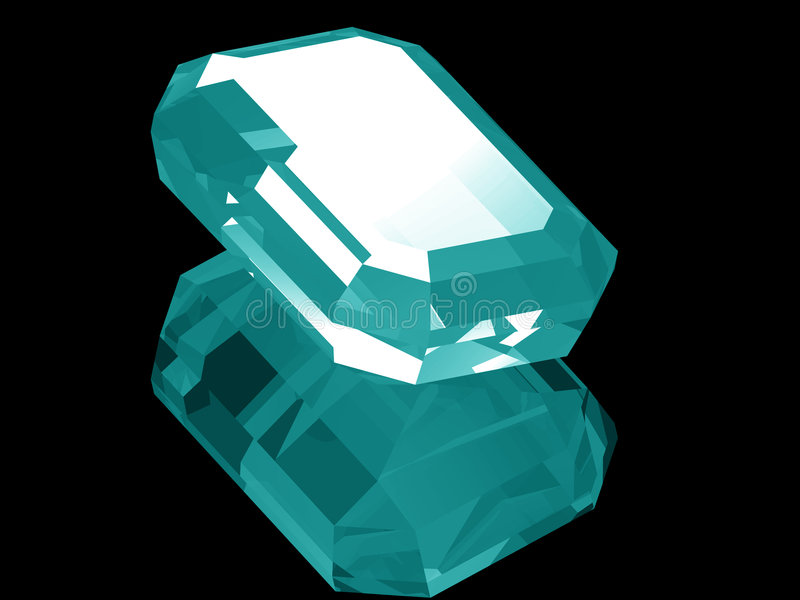 3d Aquamarine royalty free illustration