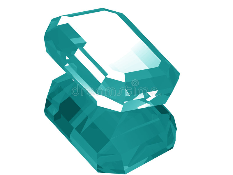 3d Aquamarine stock illustration