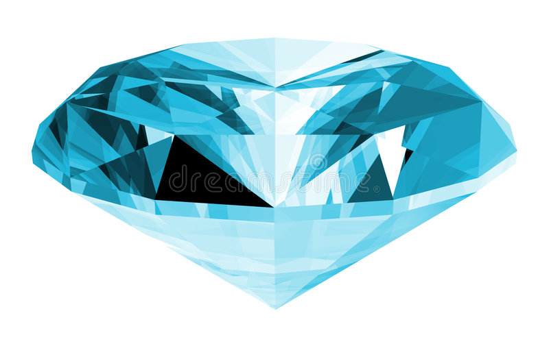 3d Aquamarine Gem Isolated vector illustration