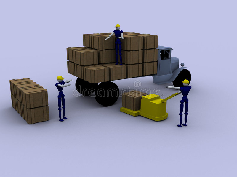 3d Arbeiders royalty-vrije stock fotografie