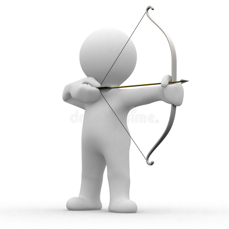 3d archery vector illustration